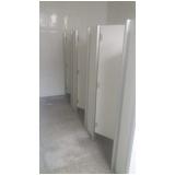 divisória de banheiro comercial